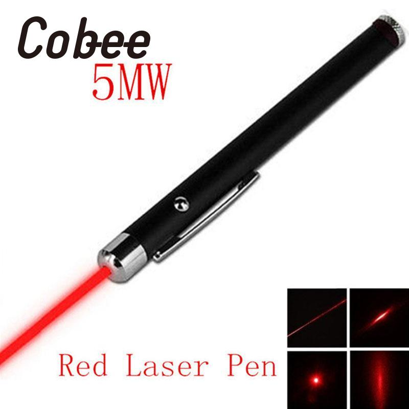 Cobee Red Laser function pen Pointer Pen Visible Beam Light 5mW 650nm Professional Portable Useful caneta compact 4 in 1 red laser ball point pen led light retractable pointer red 3 x lr41