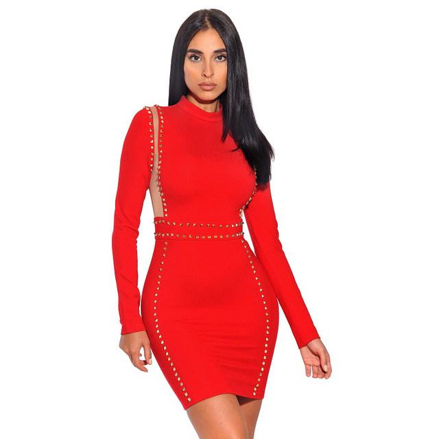 Online Shop 2018 Bandage Dress Autumn New Fashion Celebrity Party ...