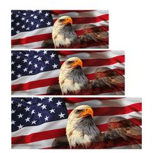 American USA Flag Eagle For Pick-up Truck SUV Jeep Back Window Graphic Decal Perforated Vinyl black white grey jumbo arctic snow camouflage vinyl wrap film roll bubble free for jeep suv truck