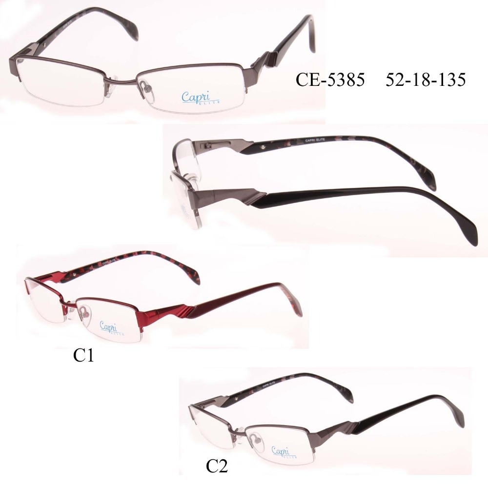 2016 glasses 879a  Free shipping Lady fashion brand design student metal optical glasses,oculos  de grau, half