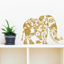 Bohemian Elephant Wall Decal Floral Moraccan Pattern Wall Stickers Vinyl Home Interior Removable Fashion Design Art Mural SYY796 цена 2017