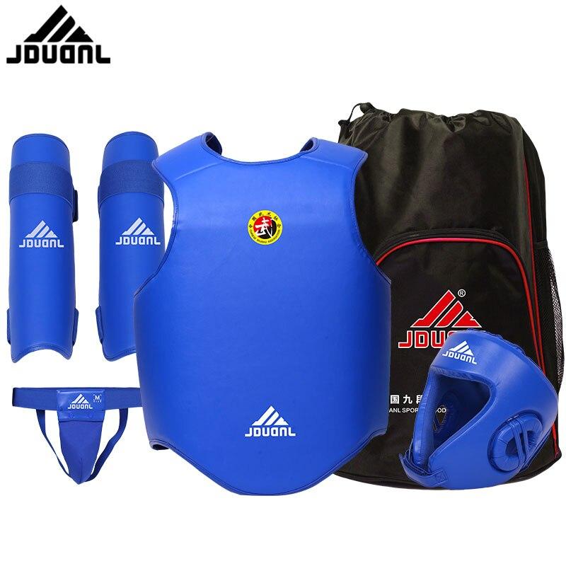 Sanshou 5 peças conjunto equipamento de treinamento sanda engrenagem guarda peito artes marciais