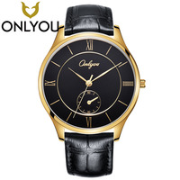 ONLYOU Lovers Famous Brand Fashion Retro Watches Rose Gold Women Men Leather Quartz Watch World Watch Wholesale