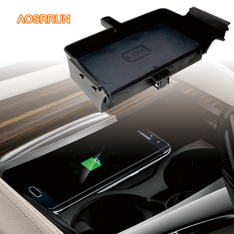 Car Mobile phone QI wireless charging Pad Module Car Accessories For BMW G30 G38 530i 530d 520i 540i 2018 2019 mobile phone