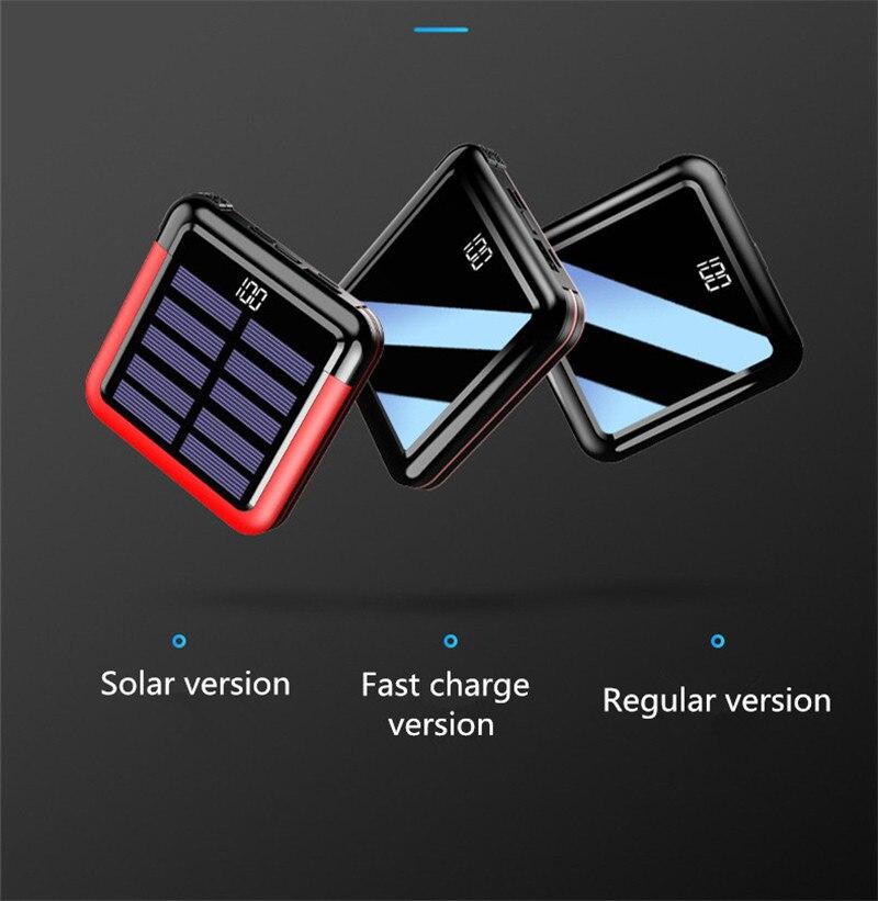 10000 mAh batterie externe batterie externe appauvrbank 2 USB LED Powerbank Portable chargeur de téléphone Portable pour iphone xs xiaomi mi9