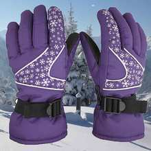 Warm Snow font b Gloves b font Winter Outdoor Sports Men Women Windproof Cycling Ski Snow