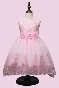 Image 4 - 2017 High quality princess dress girls wedding graduation gown purple children flower dress vestido de festa infantil menina