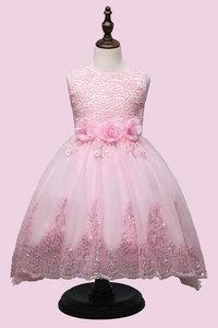 Image 4 - 2017 Yüksek kaliteli prenses elbise kız düğün mezuniyet elbisesi mor çocuk çiçek elbise vestido de festa infantil menina