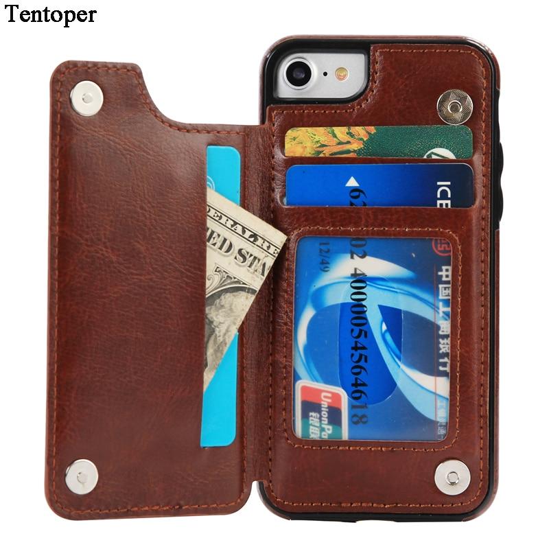 Für iPhone 6 6s 7 Hülle Luxus Leder Geldbörse Flip Card - Handy-Zubehör und Ersatzteile