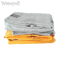 Baby Polar Fleece Blanket 150 98cm 100 Polyester With Printed Tiger Paw Newborn Baby Blankets Soft