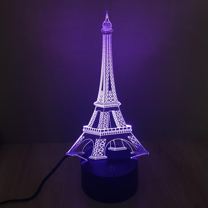2018 USB Night Light 3D Vizual illüziya lampası Uşaqlar Yeni İl - Gecə işığı - Fotoqrafiya 5