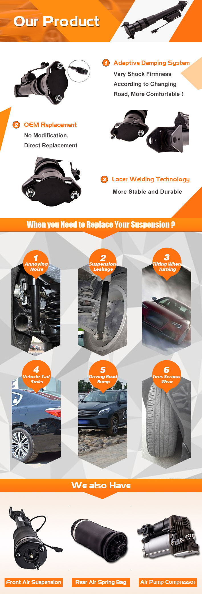 Detail Feedback Questions about Rear Air Spring Shock Absorber For