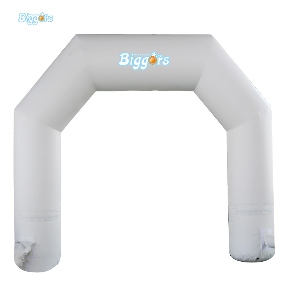 Custom Printing White Color Inflatable Arch With Free Blower For Advertising Or Activities