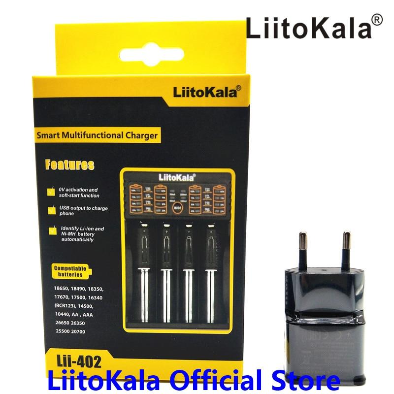 Liitokala Lii-100 Lii-202 Lii-402 liiPL4 1.2V 3.7V 3.2V 3.85V AA /AAA 18650 18350 26650 10440 NiMH lithium battery smart charger