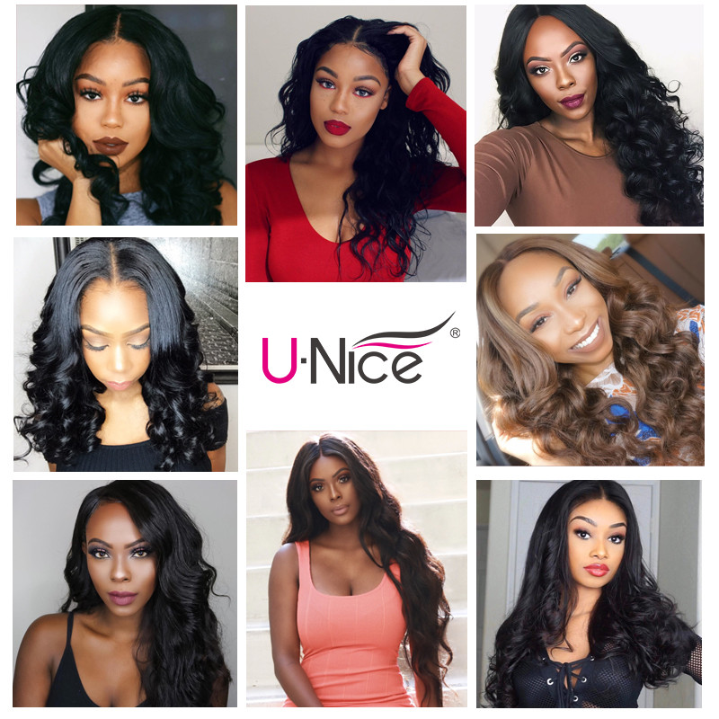"""Image 5 - Unice Hair With Closure 8 30"""" Human Hair Bundles With Closure 4PCS Natural Color Peruvian Body Wave Bundles With Closure-in 3/4 Bundles with Closure from Hair Extensions & Wigs"""
