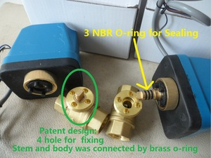 """Image 2 - DN15(G 1/2"""") AC220V 2 way 3 wire motorized brass ball valve with electric actuator controller"""