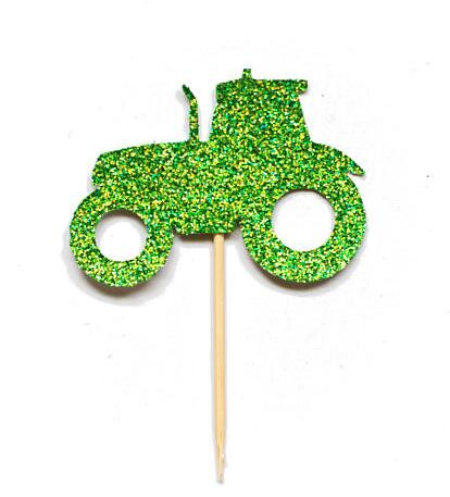Professional Sale Glitter Toy Car Wedding Christening Boy Birthday Cupcake Toppers Baby Shower Party Decoration Doughnut Food Picks Festive & Party Supplies