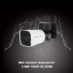 Image 2 - Inesun PoE PTZ IP Security Camera Outdoor 2MP 1080P 4X Optical Zoom PTZ Camera Waterproof 120ft IR Night Vision Motion Detection