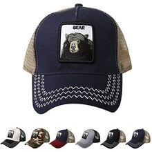 Men Women Baseball Cap for Men Trucker Hat bear embroidery Adjustable Cotton Mesh Snapback Hat Bone xxx embroidery adjustable graphic hat