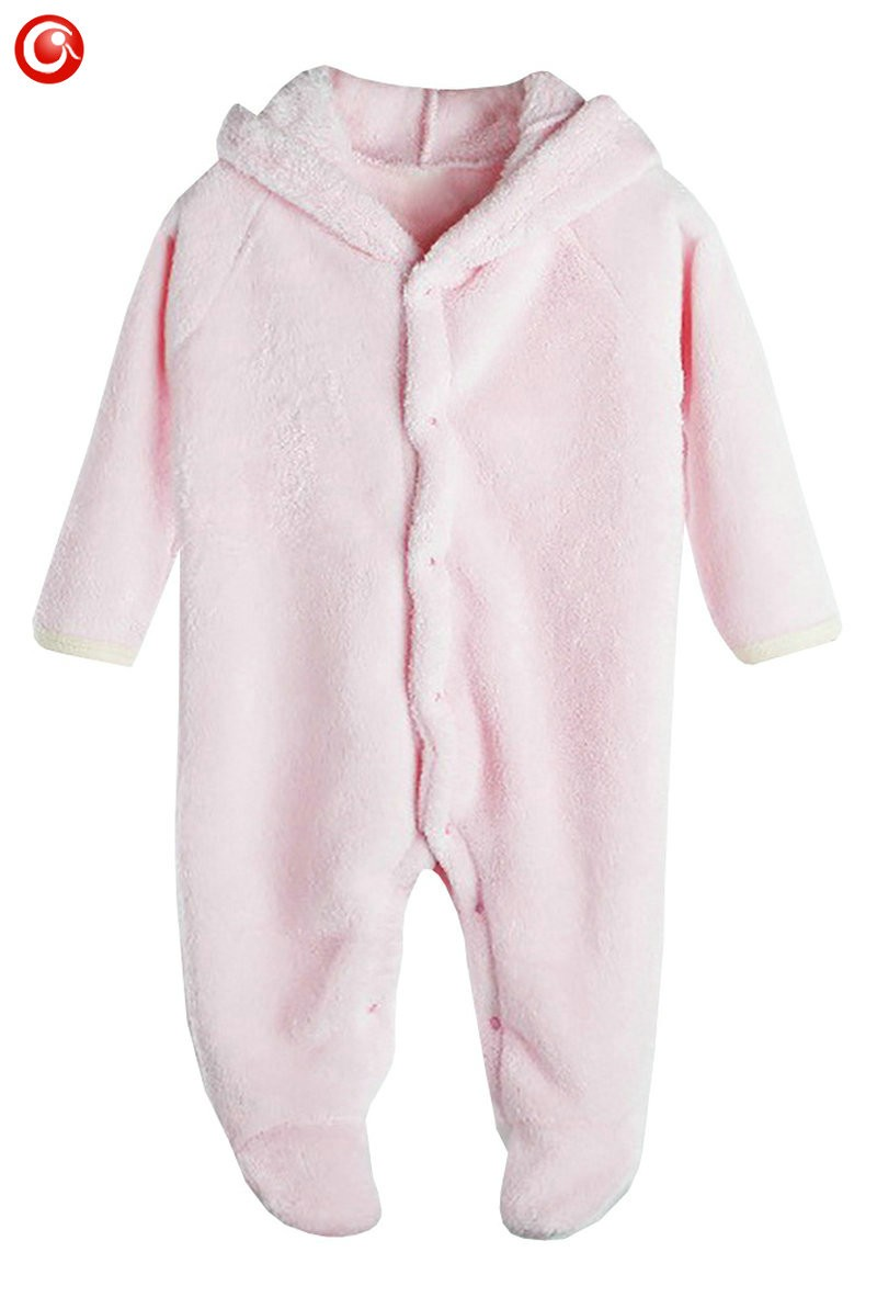 2016 Cute Winter Warm longsleeve coral fleece infant baby Romper cartoon winter Jumpsuit boys girls animal overall menino menina (5)
