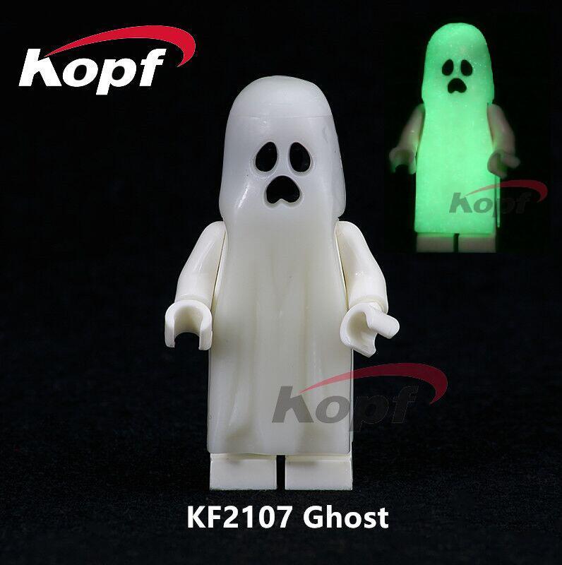 Single Sale Gloom In The Dark Luminous Moonlight Glow Ghost Sally Zombie Foxmask Building Blocks Children Toys Gift Model KF2107