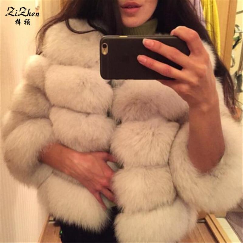 Natural Fur Coats Genuine Fox Fur Winter Warm The Coat For Women Real Fox Fur Women's Jacket Plus Size 130912-2