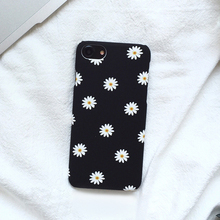 Cyato Ultra thin Frosted Cute Daisy Flower Case For iphone 7 Lovely Cartoon Floral Back Cover Hard Cases iphone7 Plus
