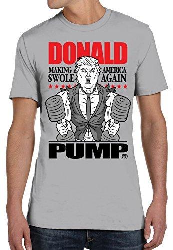 Homens Bomba de algodão Donald T-Shirt do homem camisetas