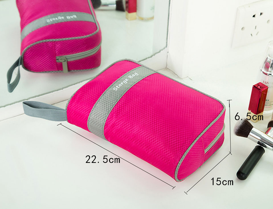 Makeup Usb Data Travel Electronic Accessories Cable Organizer Bag Large Travel Bag Organizer Electronic Multi-Functional         (3)