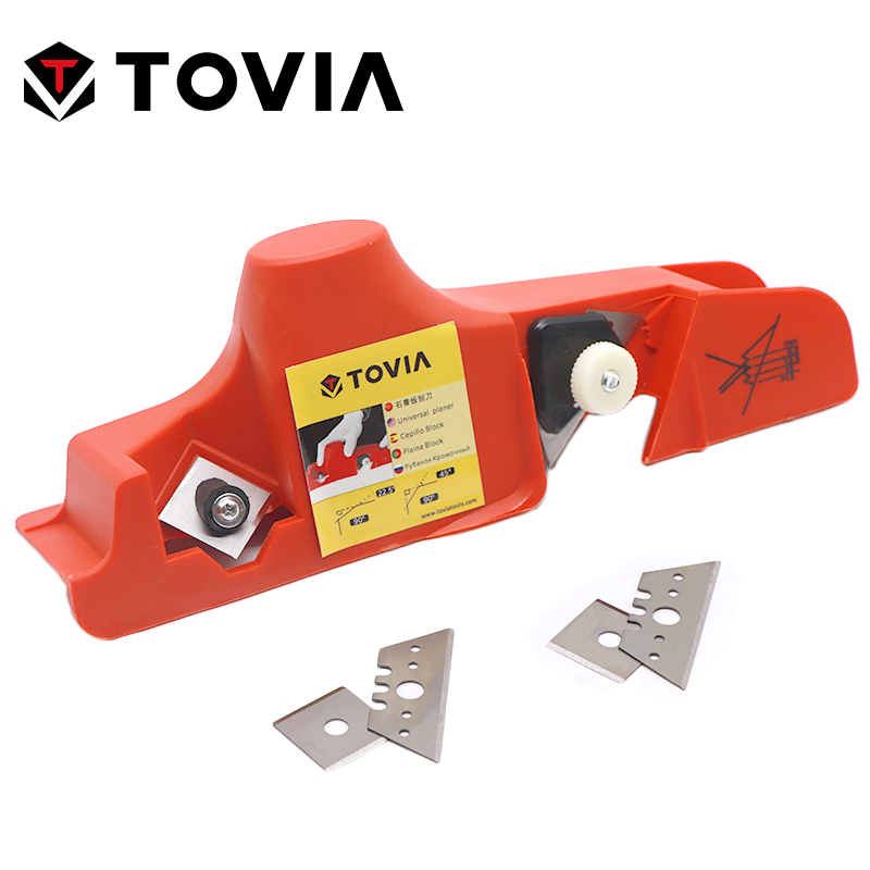 TOVIA Drywall Tools Plasterboard Gypsum Board Hand Planing Chamfer Jointer Hand Plane Drywall Edge Hand Tools