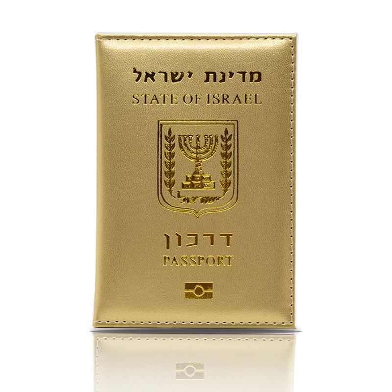 HEQUN Fashion Israel Women Passport Cover Pink Elegant Pu Leather Travel Passport Holder