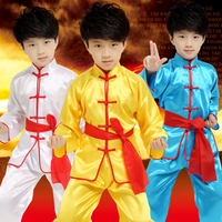 Children Child Kids Boy Chinese Traditional Clothing China Kungfu Suit Kung Fu Uniform For Boy Costumes
