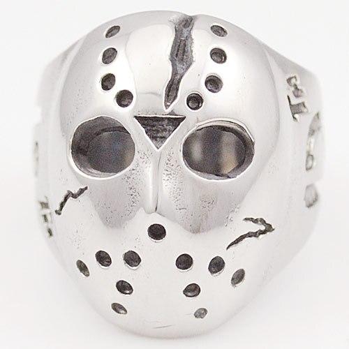 Moorvan Black Friday Hockey Jason Mask SKull Rings Novel Mens 316L Stainless Steel Jewelry, ROCK, Biker, Wholesale,VR063