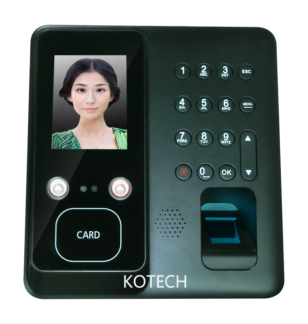 1000 Face User Face Recongnition Fingerprint Time Clock for office employee attendance