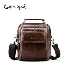Cobbler Legend Men's Natural Cowskin Small Travel Bag Man Genuine Leather Vintage Business Messenger Shoulder Bag For Man 812215