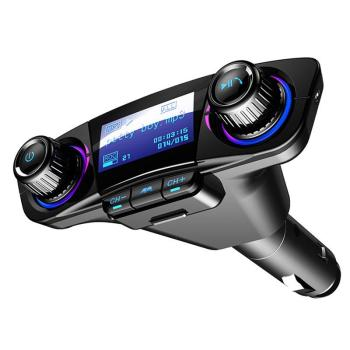 цена на Car FM Transmitter Wireless Bluetooth Handsfree Auto Kit Aux Modulator MP3 Player TF Dual USB 2.1A Power ON OFF Display Audio