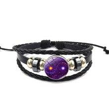 Pulseiras Feminina Bangle Viking Bracelet 2018 New Simple Fashion Mens Beautiful Sky Leather Jewelry Accessories