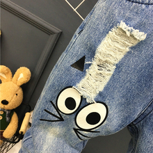 Baby Casual Pants Cartoon Cat Jeans