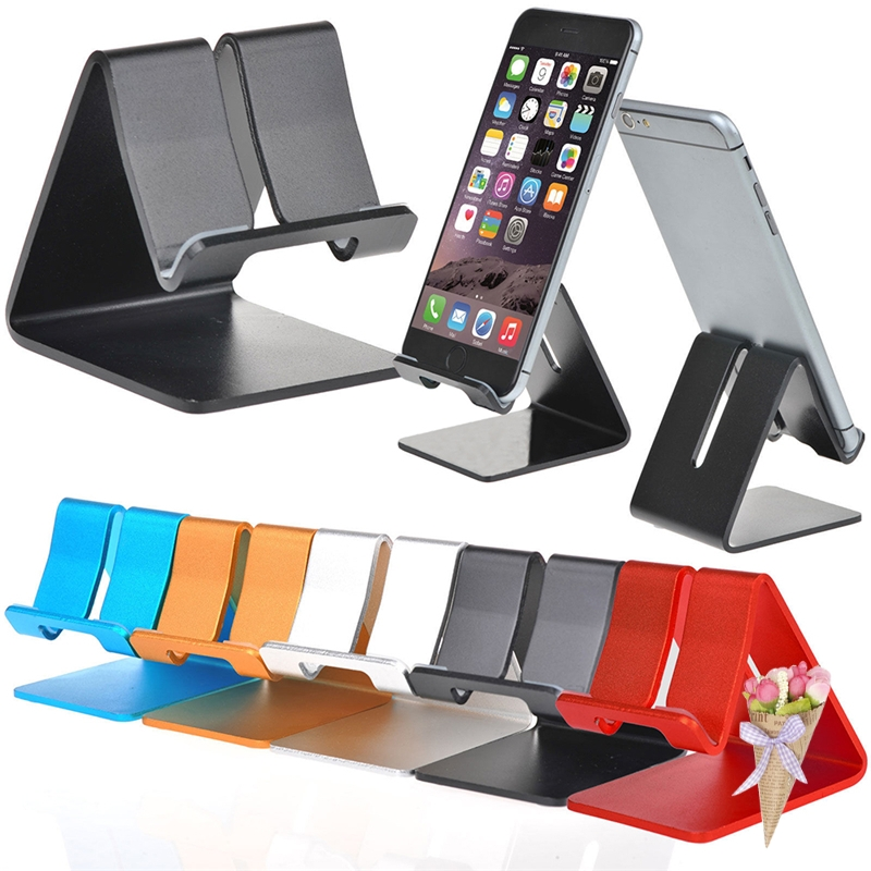 Mobile Phone Holders & Stands Holder Stand For Iphone 8 7 7plus 6s 6 5s 5 Cellphone For Kindle Ebook Aluminum Metal Mobile Phone Tablet Desk 1pc Low Price Mobile Phone Accessories