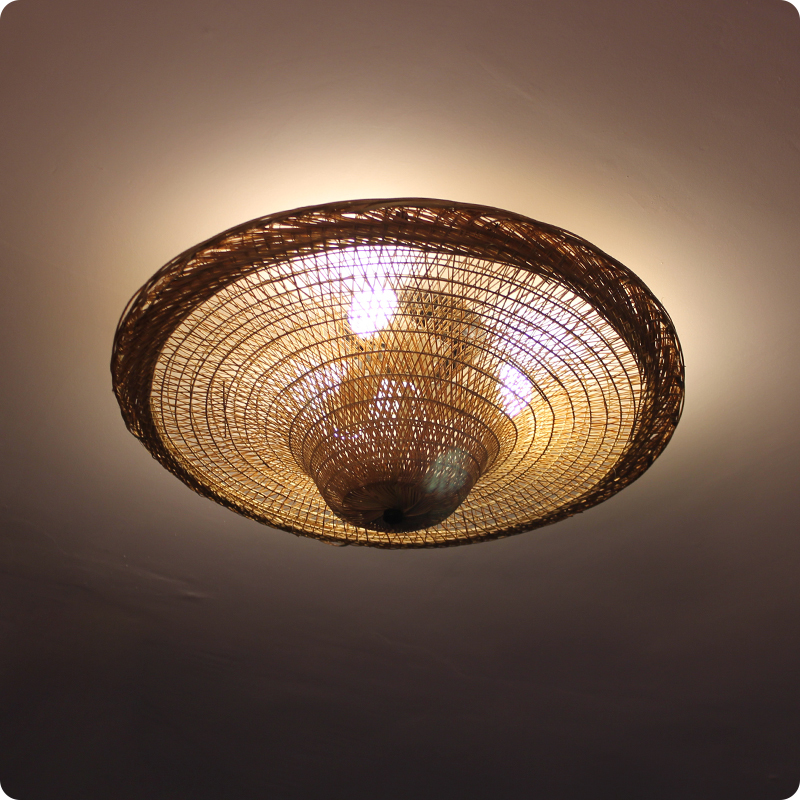 Bamboo Ceiling light hat creative personality of Southeast Asian Restaurant noodle farmhouse Hot pot shop ceiling lamps ya819 southeast asian restaurant chandeliers teahouse lights tea houses bamboo chandeliers creative balcony lamps za zb2