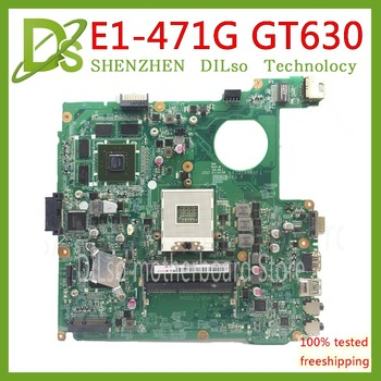 KEFU DAZQSAMB6E1 motherboard for ACER Aspire E1-471 e1-471g EC-471 v3-471g e1-431g laptop motherboard GT630M 1GB original Test