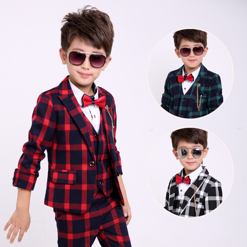 Boys Blazer 5 pcs/set Wedding Suits for Boy Formal Dress Suit Boys Wedding Suit Kid Single Button Boy Outfits Costume GH332 single boy