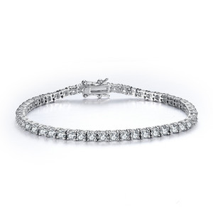 Image 1 - CMajor 925 sterling silver jewelry classic tennis bracelet prong setting cubic zirconia bracelets for women Mothers Day Gift