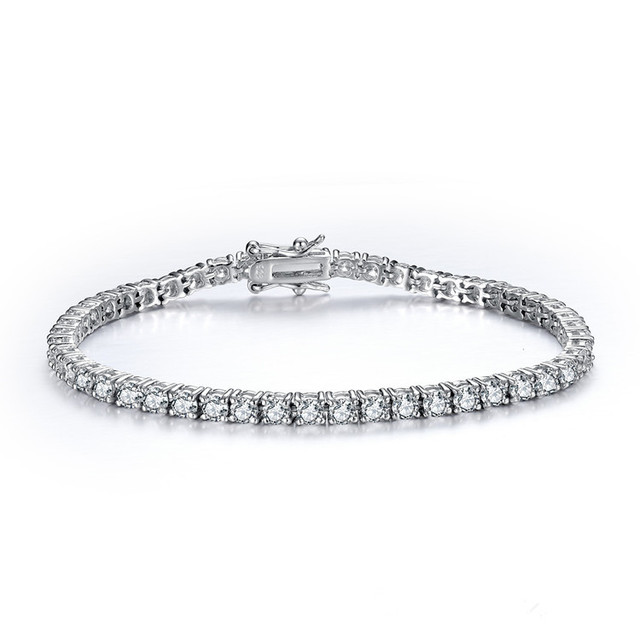 CMajor 925 sterling silver jewelry classic tennis bracelet prong setting cubic zirconia bracelets for women Mothers Day Gift