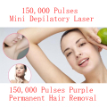 Mini HPL Electric Laser Hair Epilator Depilador Permanent Hair Removal Device Laser Machine Home 150000 Light Pulses Lamp Bikini