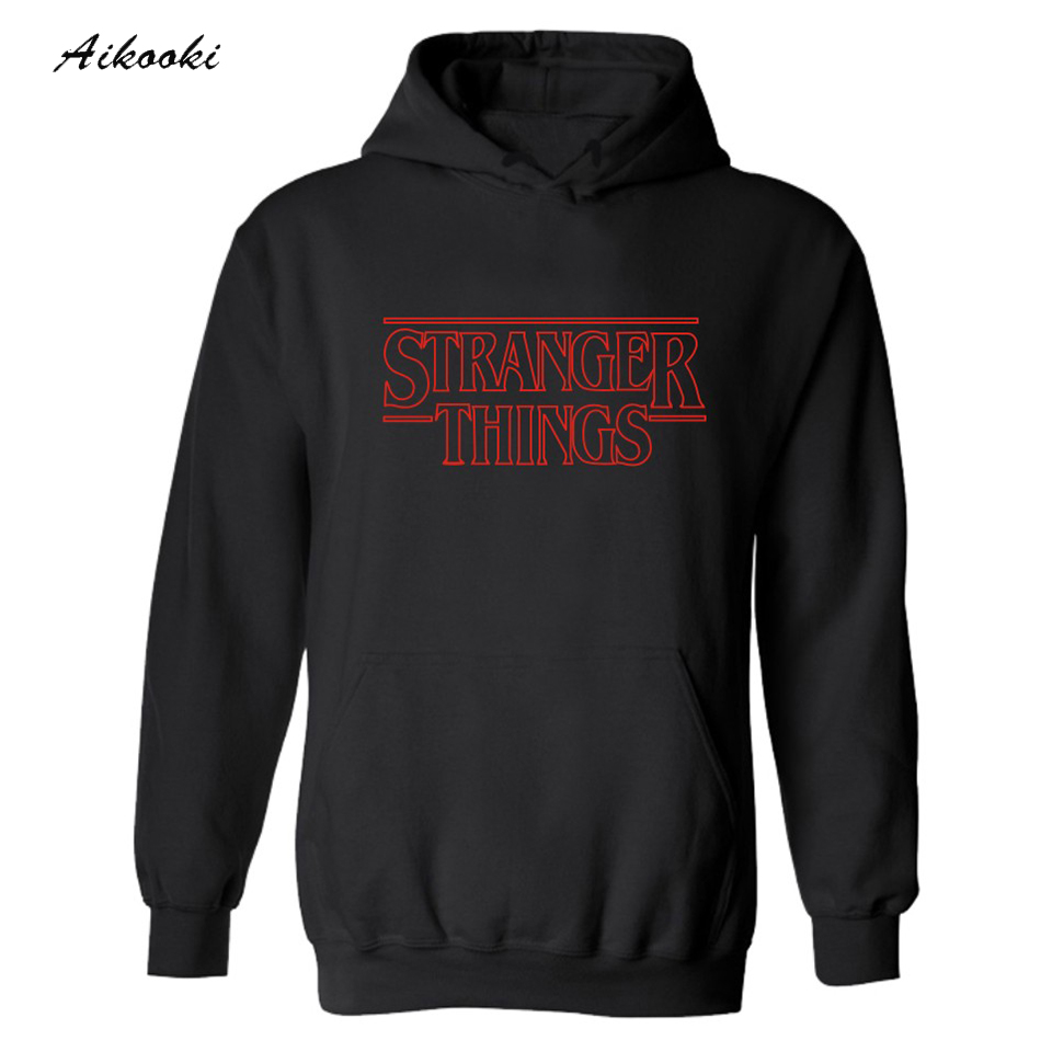 2017 Trendy Faces Stranger Things Hooded Mens Hoodies and Sweatshirts Oversized for Autumn with Hip Hop Winter Hoodies Men Brand