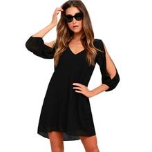Elegant Straight Party Dress Half Sleeves Skater Dress