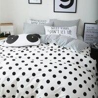 Black Dots Duvet Cover Set White Duvet Cover Grey Stripes Bed Sheet Pillow Case 100 Cotton