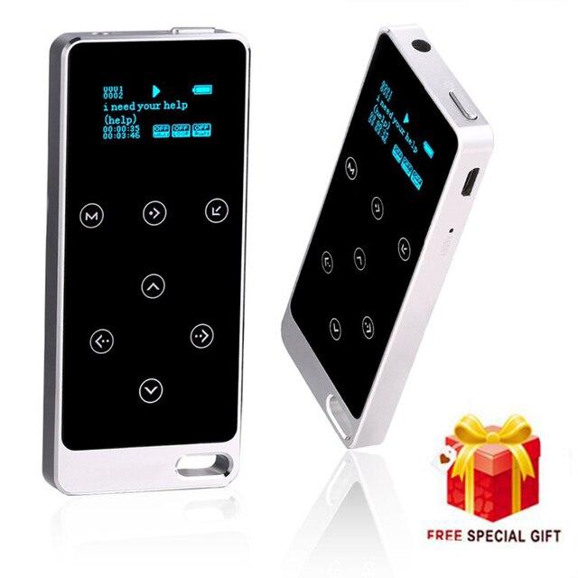 2017 Metal de ALTA FIDELIDAD Reproductor de MP3 con 8 GB de almacenamiento y la Pantalla toque el botón play 100 h calidad de sonido Sin Pérdidas de alta calidad deporte jugador