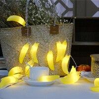 Novelty Fruit Banana Led String Light 3M 20leds Battery Operated Parties Lighting New Year Decorative Fairy